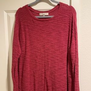 LOFT fuschia tunic sweater